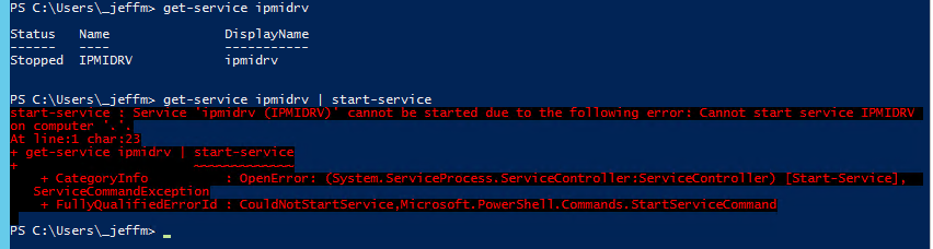 Dell PowerEdge BIOS failed due to IPMI driver – faultbucket